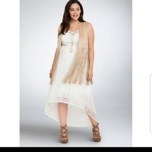 Torrid Hi lo white dress